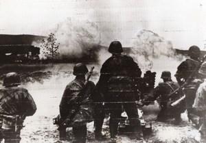 WWII German Infantry Shell Soviet Sniper WW2 Photo 1941