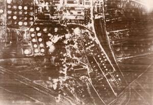 WWII Russians Bomb Rumanian Oil Deposits WW2 Photo 1941