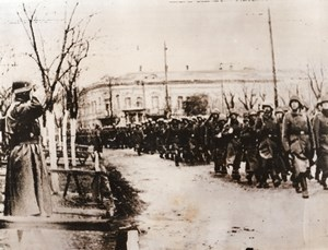 WWII German Troops Parade Marching Kerch WW2 Photo 1941