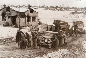 WWII Russian Front Germans Stuck In Mudd WW2 Photo 1941