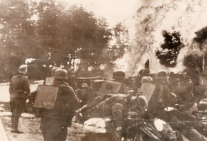 WWII Germans Invade Russian Outpost War WW2 Photo 1941