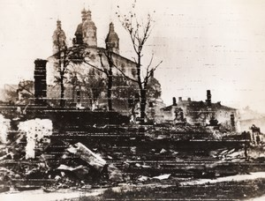 WWII War Ruins Russian Church Undamaged WW2 Photo 1941