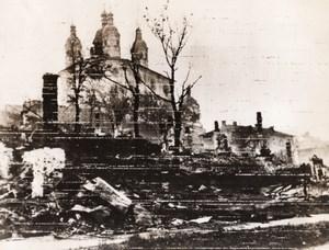 WWII War Ruins Russian Church Undamaged WW2 Photo 1941