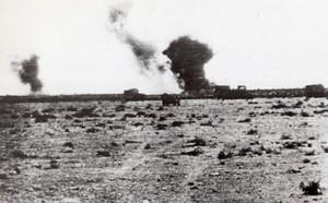 WWII Libya Desert British Supply Column WW2 Photo 1941
