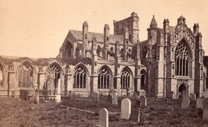 Melrose Abbey Scotland old Wilson CDV Photo 1860's