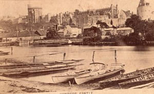 Windsor Castle Boat Thames old CDV Photo 1870's