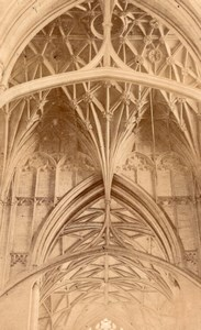 Gloucester Cathedral Arches old CDV Photo 1860's