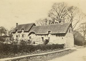Ann Hathaway's Cottage Shottery old CDV Photo 1860's