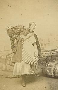 Newhaven Fishwife old Douglas CDV Photo 1860's