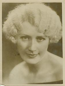 Pretty Lady Smiling Blonde Actress Irene Dunne ? old Photo 1920's