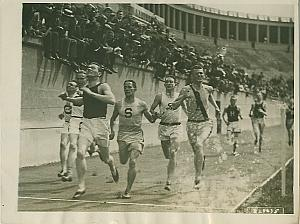 Track Half Mile Run Finish Line Harvard Photo 1922