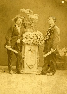 Odd Fellows Grand Master albumen Photo 1860