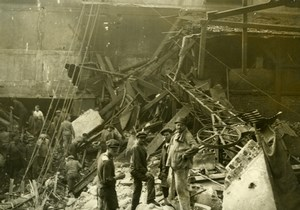 France Workers on site of an explosion Old Photo 1910