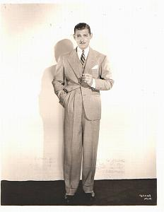 Elegant Clark Gable standing old MGM Photo 1932