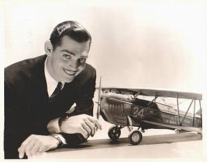 Clark Gable mail service model airplane MGM Photo 1932