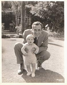 Actor John Miljan & Baby boy old MGM Photo 1932