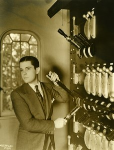 Actor Ramon Novarro in Private theater MGM Photo 1932