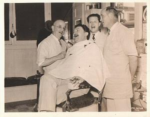 Actor Jean Hersholt at Barbershop MGM 1932