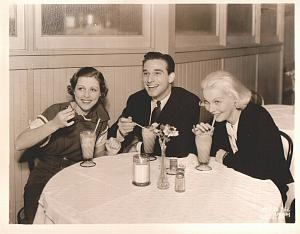 MGM actor actress drinking milkshake old Photo 1932