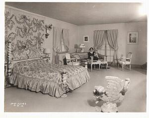 MGM Actress Alice Brady in her Bedroom old Photo 1932