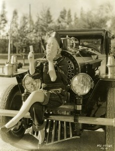 Actress Mary Carlisle in Overalls hybrid train/automobile MGM Photo 1932