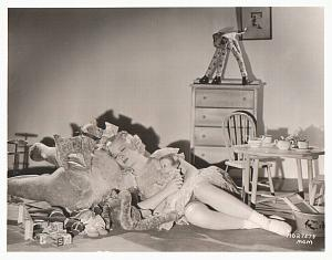Mary Carlisle as baby girl & plush toys MGM Photo
