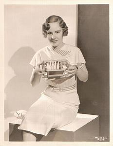 Madge Evans & Model Boat in Bottle old MGM Photo 1932