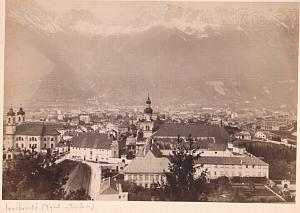 General view Innsbruck mountain old Photo 19C