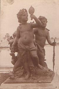 Boy statue sculpture fountain old Photo 1900