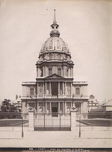 Paris architecture Invalides old Photo c1890