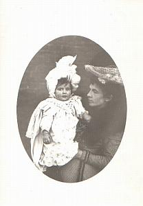 Mother and child baby girl old Photo 1900