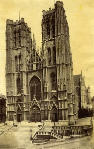 Gothic Church Brussels architecture Photo 19C