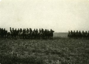 France WWI Cavalry Troops Military Battlefield Old Photo 1914-1918