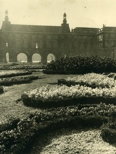 Laure Albin Guillot Garden and Castle Study old signed Photo 1930
