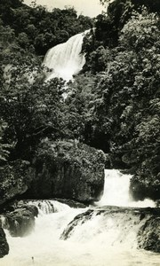 River & water falls in New Guinea old Photo 1940