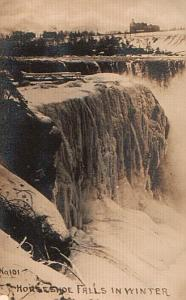 Frozen Niagara Falls Horseshoe old Photo 1910