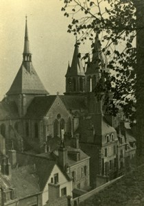 France Church Town View Photographic study Old Photo 1935