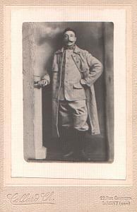 Military French soldier in Uniform, old Photo CC 1900