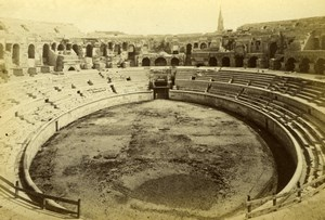 France Nimes Roman Amphitheater Amphitheatre old Cabinet Card Photo 1880
