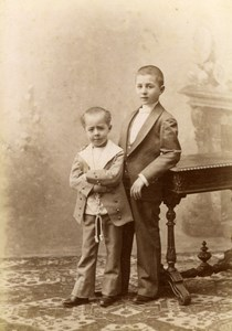The two Boy friends Pirou Cabinet Albumen Photo CC 1895