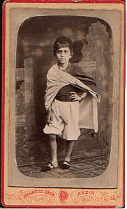 Young Boy Anzin Mines old Studio CDV Photo 1890