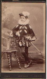 Young Boy in Costume old Studio CDV Photo 1890