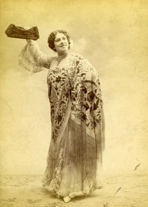 France French Stage actress Paris Fashion old Stebbing Cabinet Card Photo 1895