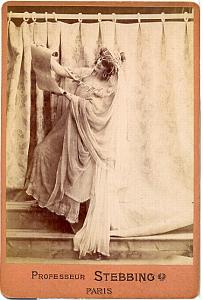 French Stage actress Paris Fashion Cabinet Photo 1895