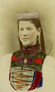 Woman at Betzingen, Germany old Studio CDV Photo 1868