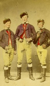 Three men, Germany Types old Studio CDV Photo 1868