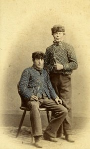 Men of Marburg Germany old Studio CDV Photo 1875