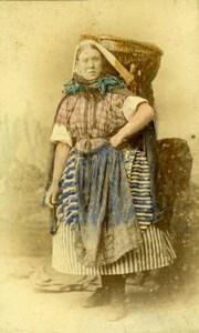 Scotland Newhaven Fishwife old Kyles & Moir CDV Photo 1880