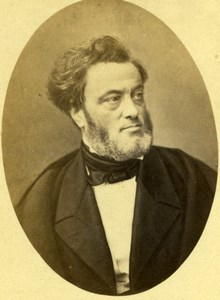 France French Politicien Jules Favre old Photo CDV Pierre Petit 1860