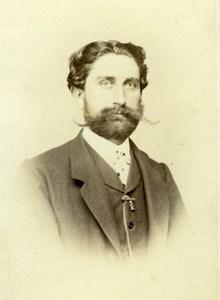 French Opera Singer Baratin Marc old Adolph Erkelenz Photo CDV 1860